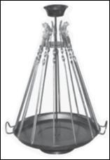 Таганок для подачи шашлыка Ø350